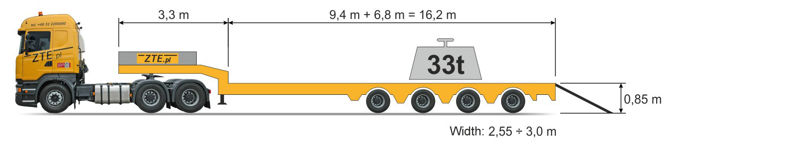 4-axle Semi semi-trailer