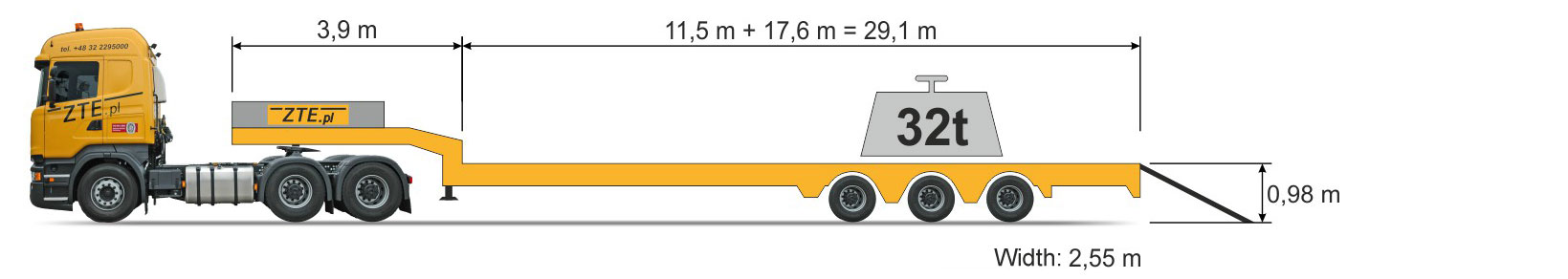 3-axle Semi semi-trailer