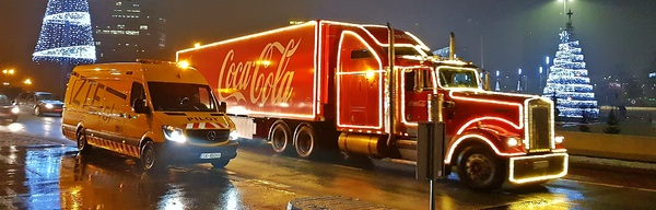 Christmas convoy ZTE and Coca-Cola